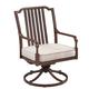 Paula Deen River House Outdoor Dining Swivel Chair in Oak (Set of 2) 17003711