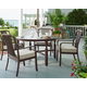 Paula Deen River House Outdoor 5pc Round Dining Room Set in Oak