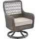 Paula Deen Dogwood Outdoor Dining Swivel Chair in Driftwood (Set of 2) 17003841