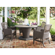 Paula Deen Dogwood Outdoor 5pc Round Dining Room Set in Driftwood