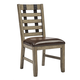 Samuel Lawrence Flatbush Metal Strap Side Chair in Light Oak (Set of 2) S084-152