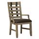Samuel Lawrence Flatbush Metal Strap Arm Chair in Light Oak (Set of 2) S084-153