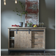 Samuel Lawrence Flatbush Sliding Door Console in Light Oak S084-142