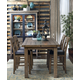 Samuel Lawrence Flatbush 5pc Gathering Dining Set in Light Oak