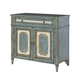 Hammary Hidden Treasures Accent Cabinet in Antique Blue & White 090-754