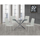 Global Furniture Round Dining Table in Chrome D497DT