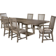 Broyhill Furniture Sonoma X-Base Dining Table Set in Acacia 4865DSET