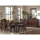 Shadyn 8pc Rectangular Dining Set in Brown