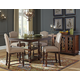 Baxenburg 6pc Square Counter Dining Set in Brown
