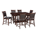 Collenburg 7pc Rectangular Counter Dining Set in Brown