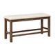 Moriville Double Upholstered Bench in Nutmeg Brown D631-09