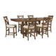 Moriville 7pc Rectangular Counter Dining Set in Nutmeg Brown