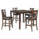 Bennox 5pc Counter Dining Set in Brown D384-223