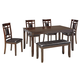 Bennox 6pc Dining Set in Brown D384-325