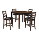 Coviar 5pc Counter Dining Set in Brown D385-223