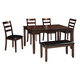 Coviar 6pc Dining Set in Brown D385-325