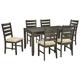 Rokane 7pc Dining Set in Brown D397-425