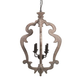 Jocelin Wood Pendant Light in Distressed White L000548