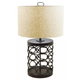 Aryan Metal Table Lamp in Black L207094