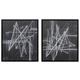 Duena 2pc Wall Art Set in Black/White A8000201