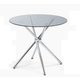New Spec Café 305 Round Glass Dining Table WF03059