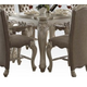 Acme Versailles Counter Height Table in Bone White 61150