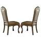 Acme Dresden Side Chair in Gold Patina (Set of 2)