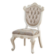 Acme Chantelle Side Chair in Rose Gold and Pearl White (Set of 2) 63542