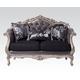 Acme Chantelle Loveseat w/3 Pillows in Antique Platinum 51541