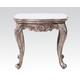Acme Chantelle End Table in Antique Platinum 80541