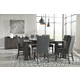 Chansey 7-Piece Rectangular Dining Table Set in Weathered Gray