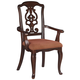 Gladdenville Upholstered Arm Chair in Brown Cherry (Set of 2)