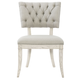 Bernhardt Domaine Blanc Button-Tufted Side Chair in Dove White 374-541 (Set of 2)