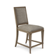 A.R.T. Cityscapes Bleecker Uph Back Counter Stool (Set of 2) in Stone 232209-2323CL