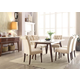Acme Gasha 7pc Dining Room Set in White/Walnut