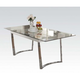Acme Osias Dining Table in Chrome 73150