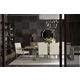 Bernhardt Mosaic 7pc Rectangular Dining Set in Dark Taupe
