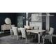 Bernhardt Domaine Blanc 7pc Leg Dining Set in Dove White
