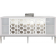 Meridian Zoey Sideboard/Buffet in Chrome/White 303