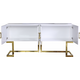 Meridian Beth Sideboard/Console in White/Gold 306