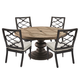 A.R.T Morrissey Outdoor 5pc Neo Round Dining Set in Ash/Charcoal