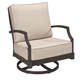 A.R.T Morrissey Outdoor Sullivan Swivel Rocker Club Chair in Charcoal (Set of 2) 918516-4242