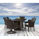 A.R.T Epicenters Outdoor 7pc Cypress Rectangular Dining Set in Ebony