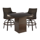 A.R.T Epicenters Outdoor 3pc Cypress Bar Dining Set in Ebony