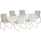 A.R.T Cityscapes Outdoor 7pc Empire Slat Top Rectangular Dining Set in White