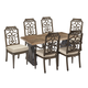 A.R.T Arch Salvage Outdoor 7pc Lyon Rectangular Dining Set in Tobacco