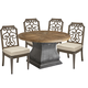 A.R.T Arch Salvage Outdoor 5pc Lyon Round Dining Set in Tobacco