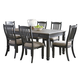 Tyler Creek 7pc Rectangular Dining Set in Black/Gray