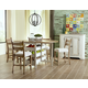 Klaussner Coming Home 5pc Neighbors Counter Height Dining Set in Chalk