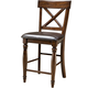 Intercon Furniture Kingston X-Back Counter Stool (Set of 2) in Raisin